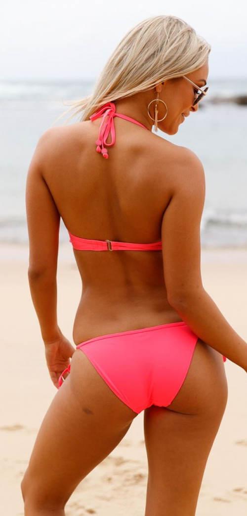 Jasnoróżowe bikini damskie
