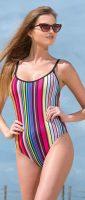 Jednoczęściowy kostium kąpielowy oversize w kolorowe paski