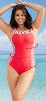 Tanie wyszczuplające damskie jednoczęściowe kostiumy kąpielowe Bonprix