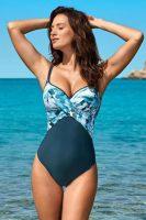 Damski jednoczęściowy kostium kąpielowy o opływowym kroju