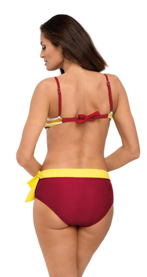 Damskie wzmocnione bikini dwukolorowe