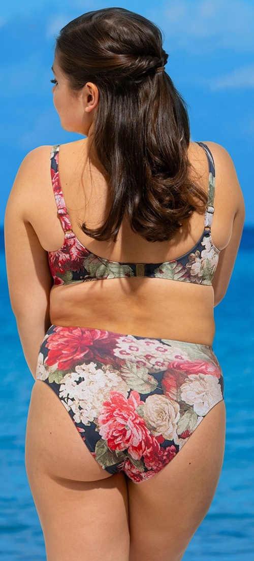 Romantyczny kwiatowy kostium kąpielowy dla plus size