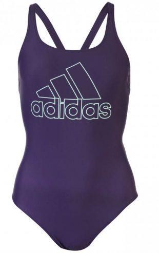 Fioletowy strój kąpielowy jednoczęściowy damski XXL Adidas