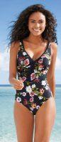 Jednoczęściowy kostium kąpielowy w kwiaty z odpinanymi wielofunkcyjnymi ramiączkami