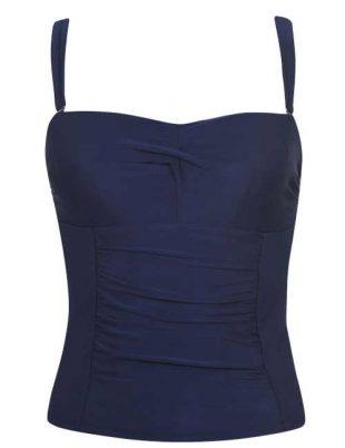 Damskie staniki bikini o opływowym kroju z regulowanymi ramiączkami.